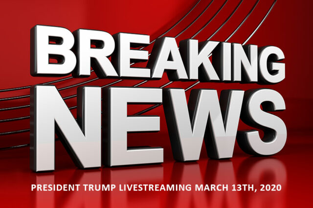 44529670 President Trump Livestream March 13th 2020 COVID-19 Helotes News Web