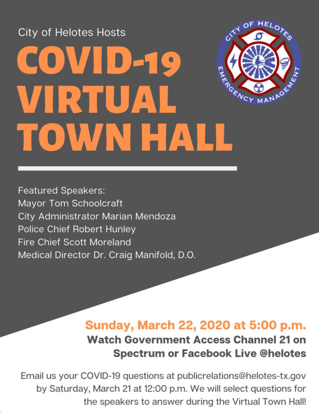 Helotes Virtual_Town_Hall_Flyer_032220_FINAL