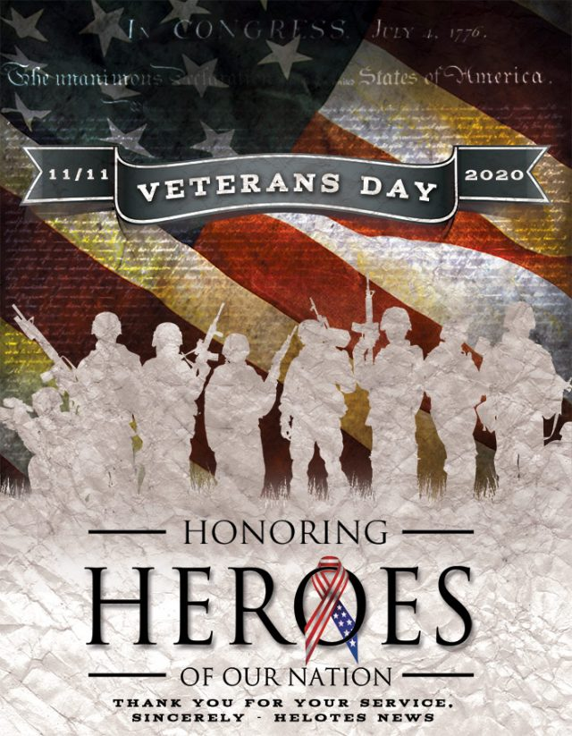 Helotes News Veterans Day Social Graphic Web