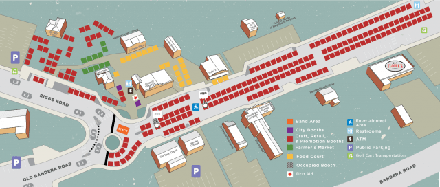 Helotes Market Place Map