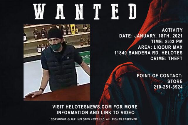 Helotes News Crime Stoppers 2021 01 18 Liquor Maxx