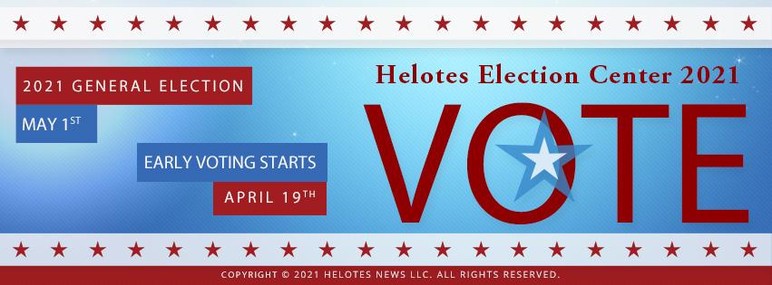 Helotes News Election Center 2021 Webpage Header