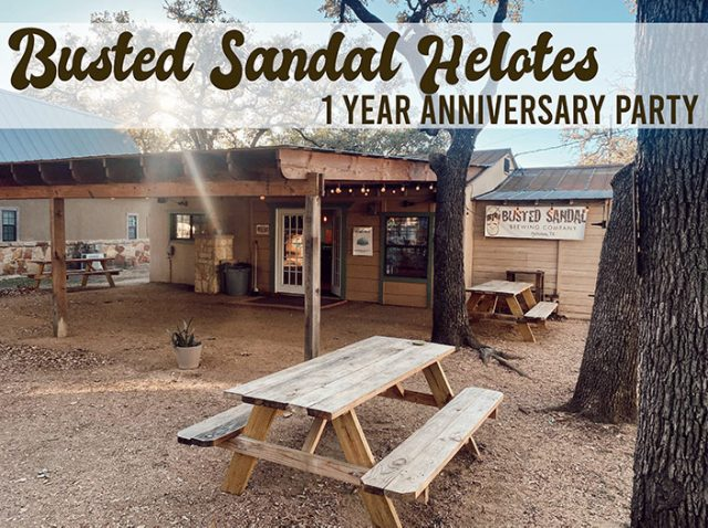 Busted Sandal Helotes 1 Year Anniversary Party Web
