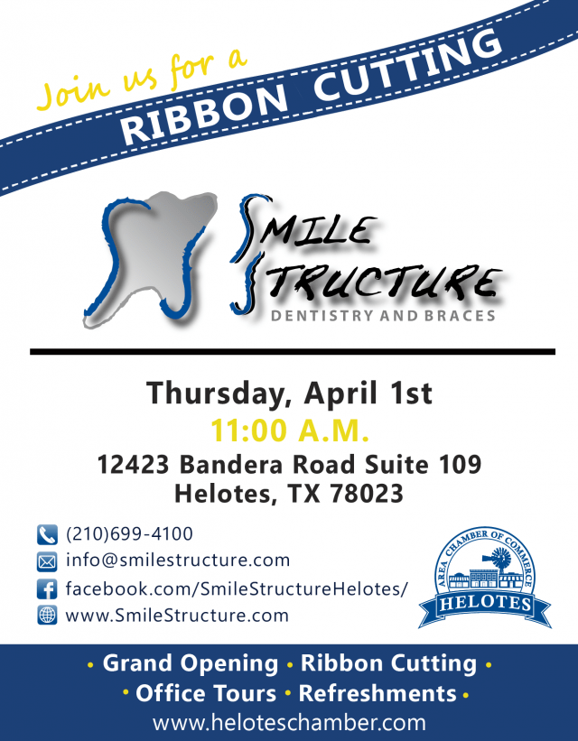 Smile Structure Dentistry & Orthodontics Ribbon cutting flyer Updated-01