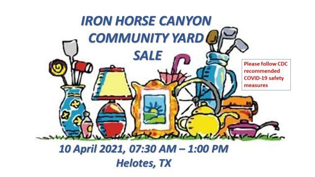 Helotes Iron Horse Canyon Yard Sale