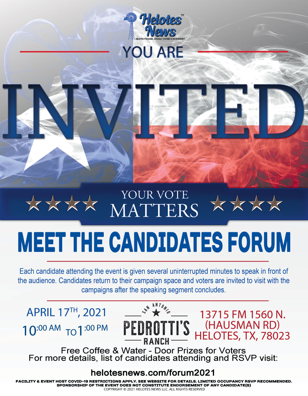 Meet the Candidates Forum Flyer Save-the-Date 2021 04 16